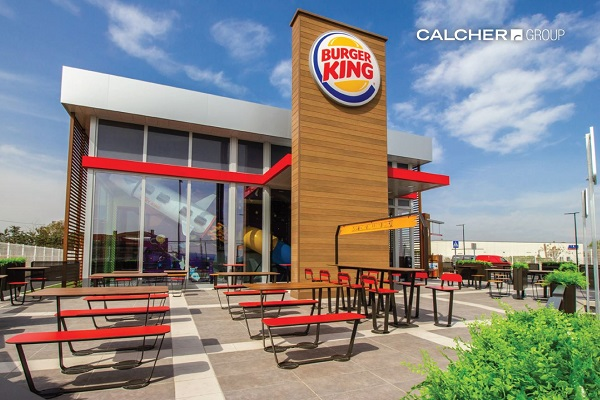 Terrassa Burger King a Brunete