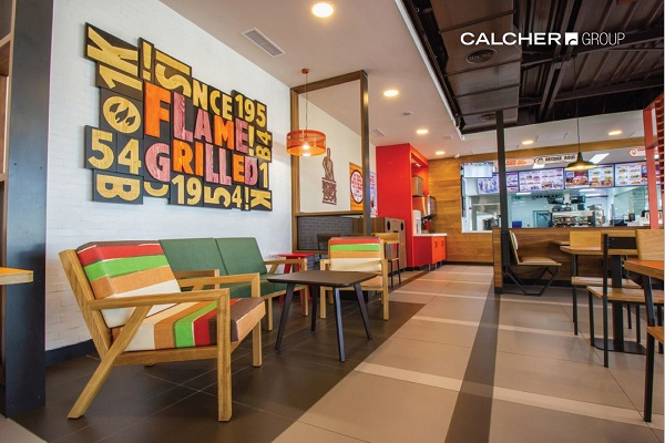 Zona relax interior Burger King Brunete